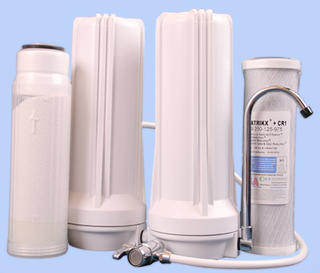 Twin Benchtop Filtration System 10 inch Fluoride and CR1®