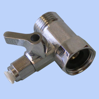 Chrome 15mm M/Female Underbench connector