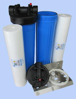 Whole House 20 inch Big/Jumbo Twin Sediment Filter