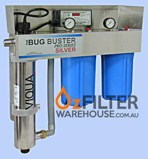 UV Water Steriliser - Bug Buster Pro Series - Silver